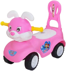 eHomeKart Kids Bunny Ride On -Honey Bee Baby Rabbit Rider with Music , Backrest and Storage Box - for Boys and Girls of Age 1 year to 4 years  (Pink)