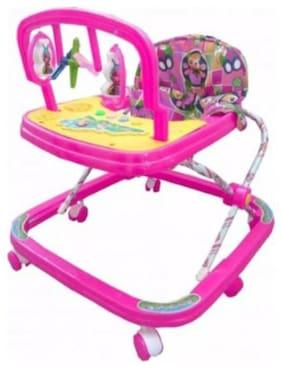 Ehomekart Pink Classic Adjustable Musical Walker For Kids