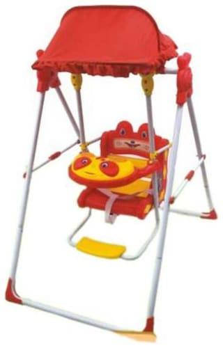 Ehomekart Red Daizy Musical Garden Swing For Kids