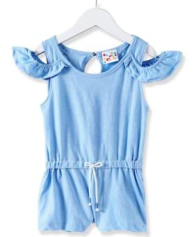 Eimoie Cotton Printed Bodysuit - Blue