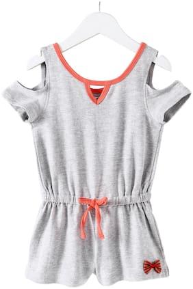 Eimoie Cotton Solid Bodysuit - Grey