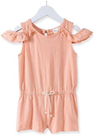 Eimoie Cotton Solid Bodysuit - Orange