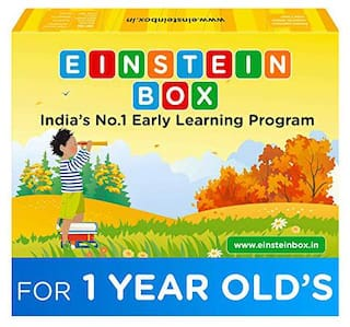 Einstein Box for Kids 1 Year Old Baby/ Toddler Toys & Board Books for Boys & Girls | Pretend Play Gift Pack of Learning and Educational Toys & Games (Multicolor)
