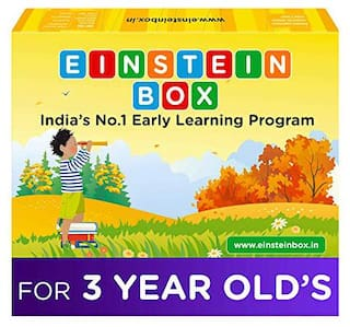 Einstein Box for 3 Year Old Kids Baby Boys & Girls, Learning and Educational Gift Pack of Toys, Games and Books, Apron (Multicolor)