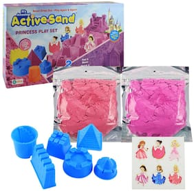 Ekta Active Sand Princess Play Set | Non-Toxic | Never Dries Out | for Kids 3+ Years/Birthday Gifting Item for Toddlers
