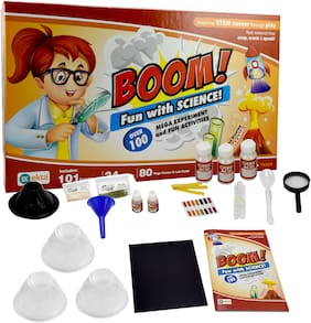 Ekta Boom Science Game With 100 Experiments | 24 Lab Tools | 80 Pages Guide | School Project