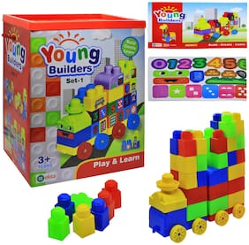 Ekta Young Builders Set 1 Blocks & Bricks Toy Game