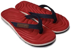 Electra Boys Red&Navy Color Thong-Style Slippers/Flip Flops