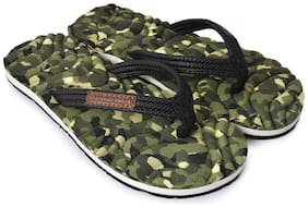 Electra Boys Olive&Black Color Thong-Style Slippers/Flip Flops