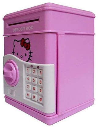 Electronic Piggy Bank Password Lock Money Safe for Coins and Notes Collecting