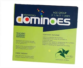 Elementary dominoes : Learn to Process all the progression, Value and Identification of Numbers |Educational Toys/Learning Kits/Educational Kits/Math Kit