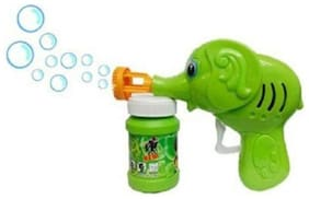 Elephant Hand Pressing Bubble Gun Toy for Kids (assorted colours)