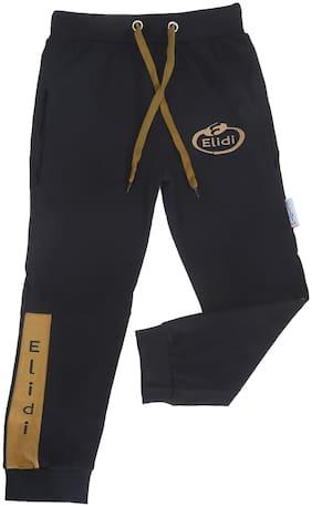 ELIDI Boy Cotton Track pants - Black