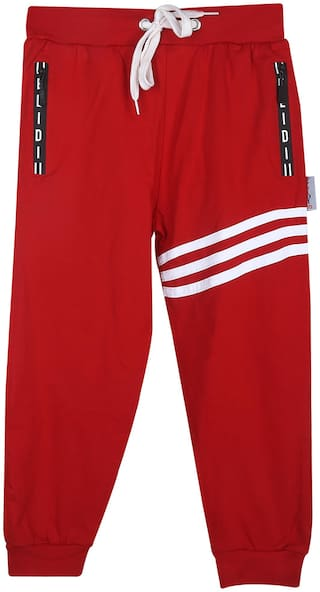 ELIDI Boy Cotton Track pants - Red