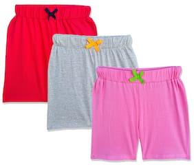 ELK Girl Cotton Solid Regular shorts - Multi