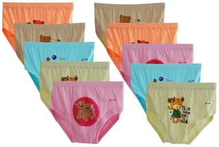 ELK Panty & bloomer for Girls - Brown , Set of 1