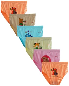 Elk Kids Baby Girls and boys soft cotton Printed Panties Brief Innerwear 6 Piece Combo