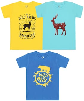 ELK Boy Cotton Printed T-shirt - Multi