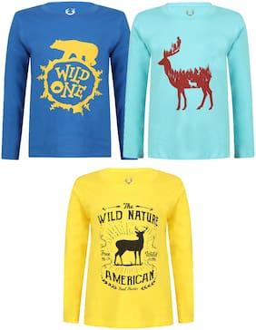 ELK Boy Cotton Printed T-shirt - Multi