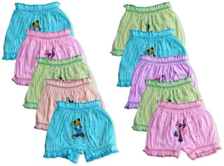 ELK Panty & bloomer for Girls - Multi , Set of 10