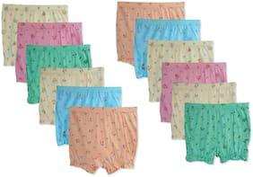 Elk Kids Cotton Printed Bloomer Drawer Innerwear underwear for Boys and Girls Pack of 12 Multi
