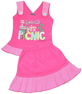 ELK Baby girl Top & bottom set - Pink