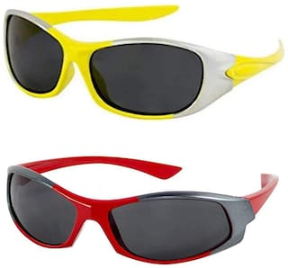 Emartos KIDS SUNGLASSES COMBO - PACK OF 2 (UV PROTECTION) (Yellow,Red)