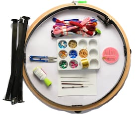 Embroidery frame 16 inch with Stand and Accessories for Aari work making - Type2