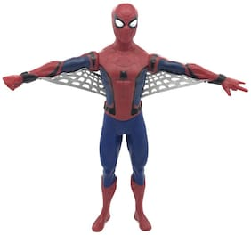 Emob 44 cm Red Color Super Power Hero Action Figure Toy with Light and Sound Feature