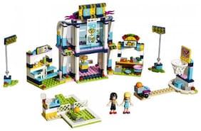 Emob 503 pcs Bricks Girls Club Sports Theme 3D Building Blocks Set Toy with Two Mini Figures