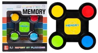 Emob Brainstorming Sequence Remember Brain Development Electronic Memory Game with Light and Sound Effects  (Multicolor)