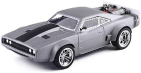 Emob Die Cast Metal Body Grey Battery Operated Luxury Car Toy with Light and Sound