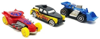 Emob Pack of 3 Free Wheel Mini Rapid Racer Metal Master Car Toy for Kids  (Multicolor)