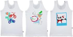 EPOXY Vest For Boys - White , Set of 3