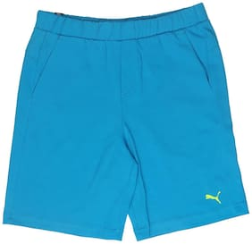 Puma Boy Solid Shorts & 3/4ths - Blue