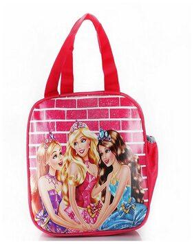 eSwaraa Barbie bag, Lunch Bag For kids, lunch bag for School, kids lunch multipurpose bag, barbie bag, lunch bag,kids lunch bag,lunch bag girls, pink bag