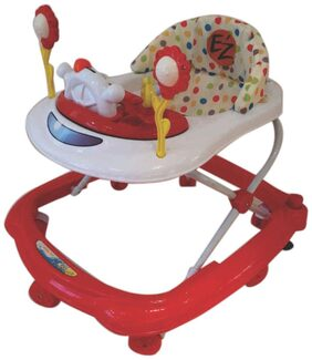EZ' PLAYMATES HAPPY BABY WALKER WHITE/RED
