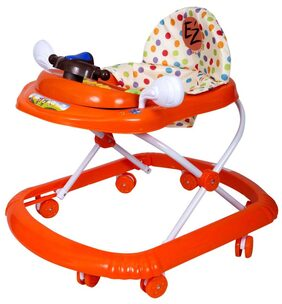EZ' PLAYMATES FUN BABY WALKER ORANGE