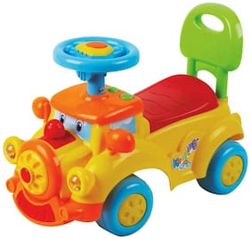 EZ' PLAYMATES  BABY RIDE ON DREAM CAR YELLOW