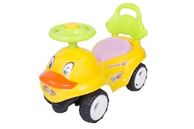 Ez' Playmates Non Electric Yellow Ride-on car - 2-4 years , Bis certified