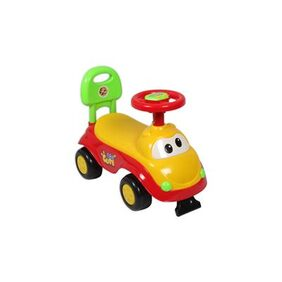 EZ' PLAYMATES CUTE CAR KIDS RIDE-ON YELLOW/RED