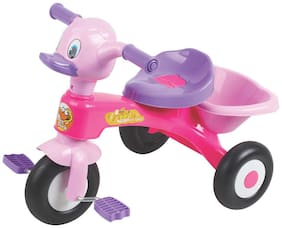 EZ' PLAYMATES KIDS DUCK TRICYCLE PINK/PURPLE