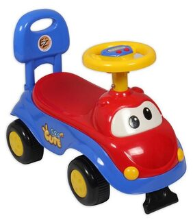 EZ' PLAYMATES CUTE CAR KIDS RIDE-ON RED/BLUE