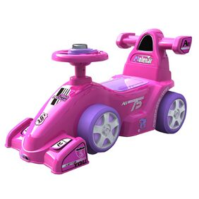 EZ' PLAYMATES BABY RIDE ON FORMULA CAR PINK