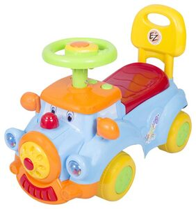 EZ' PLAYMATES  BABY RIDE ON DREAM CAR BLUE