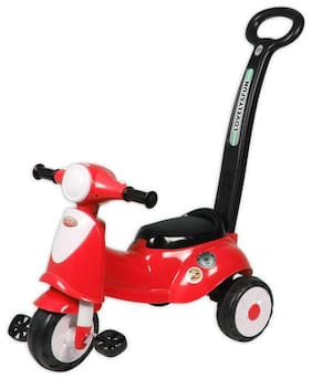 Ez' Playmates Italian Scooter Kids Tricycle With Navigator Red