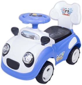 Ez' Playmates Non Electric Blue Ride-on car - 2-4 years , Bis certified