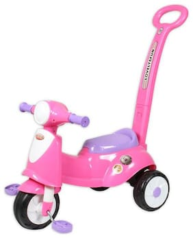 EZ' PLAYMATES ITALIAN SCOOTER KIDS TRICYCLE WITH NAVIGATOR PINK