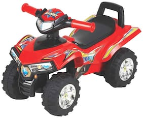 EZ' PLAYMATES  BABY RIDE ON DESERT BIKE RED