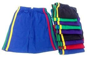 FABLOOK boys printed shorts pack of 10 piece multicolour for to 2 to 3 year
